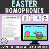 Easter Activity for Google Slides™ Homophones Practice + print pages