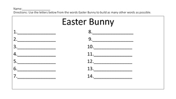 Easter Activties
