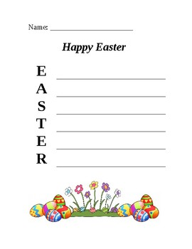 Easter Actrostic Puzzle