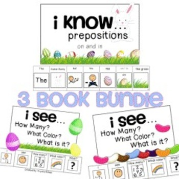 Easter Adapted Book BUNDLE How Many? What Color? What? 1-20 Where?