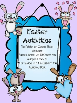Easter Adapted Books and File Folder Activities