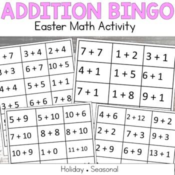 Easter Addition BINGO