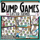 Addition Bump Games ~ Easter ~ adding numbers 1-10 and doubles