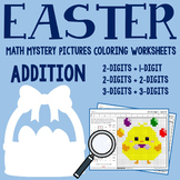 Easter Math Addition Worksheets, Easter Addition Activities Mystery Pictures