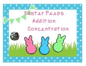 Easter Addition Concentration/Memory Game
