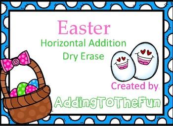 Easter Addition Dry Erase Cards