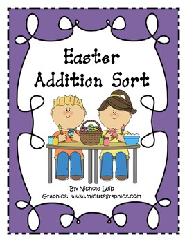 Easter Addition Fact Sort