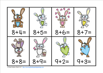 Easter Addition Facts to 20