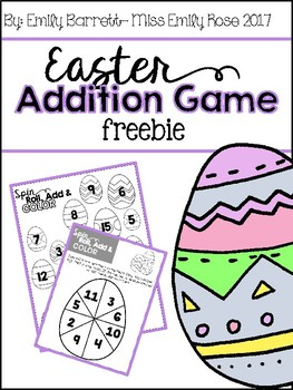 Easter Addition Game