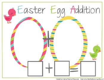 Easter Addition Game for Pre-K-1