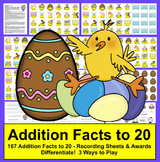 Easter Math Addition Facts to 20 - Differentiate!
