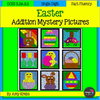 Easter Addition Mystery Pictures