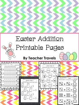 Easter Addition Printable Pages