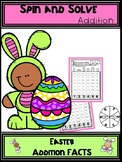 Easter Addition Spin and Solve Math Centers