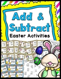 Easter Addition & Subtraction Game (Includes Regrouping) & Worksheets