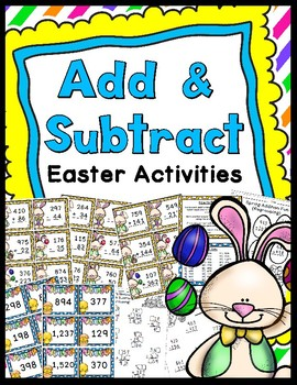 Easter Addition & Subtraction Game (Includes Regrouping) &