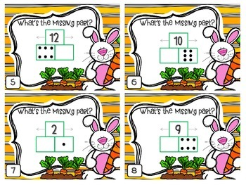 Easter Addition & Subtraction Part-Part-Whole Task Cards - 1.OA.1