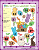 Easter Spring Treats Addition, Subtraction, & Multiplication Bump Games!