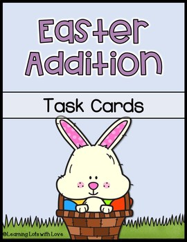 Easter Addition Task Cards