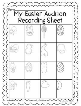 Easter Addition Task Cards
