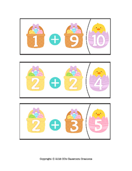 Easter Addition Tasks and Worksheets