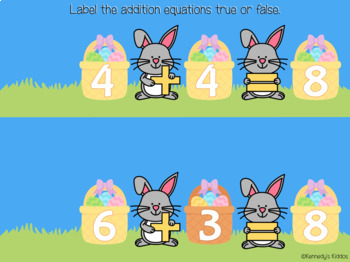 Easter Addition - True or False (Great for Google Classroom!)