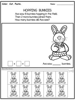 Easter Addition Word Problem FREEBIE - No Prep (K-2)