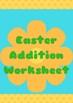Easter Addition Worksheet