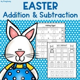 Easter Worksheets: Addition & Subtraction (Kindergarten)
