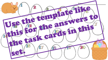 Easter Addition and Subtraction Fact Family Task Cards