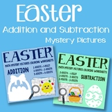 Easter Addition and Subtraction Mystery Pictures