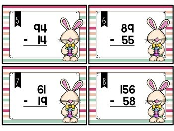 Easter Addition and Subtraction Task Cards