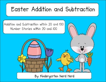 Easter Addition and Subtraction within 20 and 100