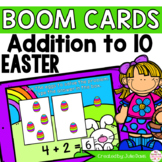Easter Addition to 10 Math Centers | Digital Game Boom Cards