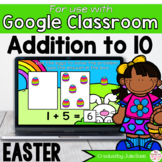 Easter Addition to 10 Math Centers for Google Classroom