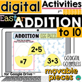 Easter Addition to 10 for Google Classroom DISTANCE LEARNING