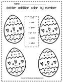 Easter Addition/Color Worksheet
