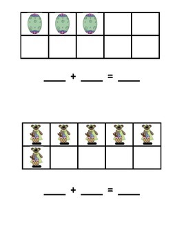 Easter Additions Using 5 and 10 Frames
