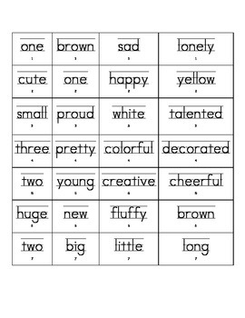 Easter Adjectives Describe Writing Book or Activity Common Core