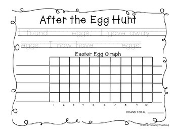 Easter:  After The Egg Hunt Graphing!