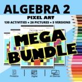 Easter Algebra 2 BUNDLE: Math Pixel Art Activities