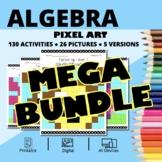 Easter Algebra BUNDLE: Math Pixel Art Activities