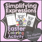 Easter Algebraic Expressions Worksheet {Easter Middle Scho