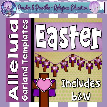 Easter ~ Alleluia ~ Easter Sunday Garland