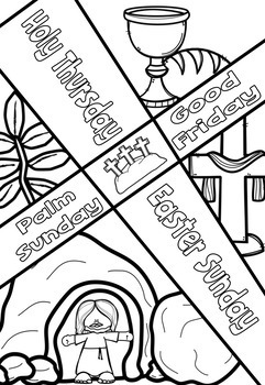 Easter Sunday Alleluia Posters Coloring Pages Bible Theme