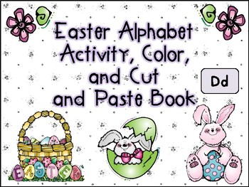 Easter Alphabet Activity Color Cut and Paste Book Dd