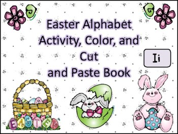 Easter Alphabet Activity Color Cut and Paste Book Ii