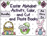 Easter Alphabet Activity Color Cut and Paste Books Aa Thru