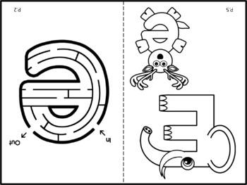 Easter Alphabet Activity Color Cut and Paste Books Bundle Aa Thru Zz