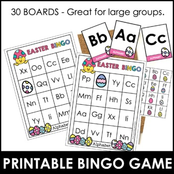 Easter Alphabet Bingo Game - Letters A through Z